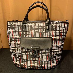 NWT Vera Bradley Tassle Tote Art Plaid Purse